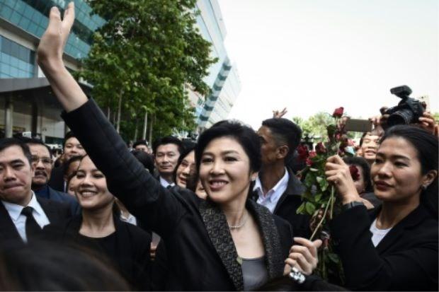4.000 cảnh sát bảo vệ phiên tòa tuyên án bà Yingluck - ảnh 1