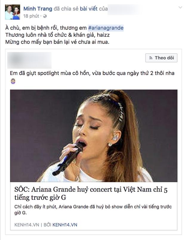 Không chỉ fan, nghệ sĩ Việt cũng sốc trước tin Ariana Grande đột ngột hủy concert trước giờ G - Ảnh 5.