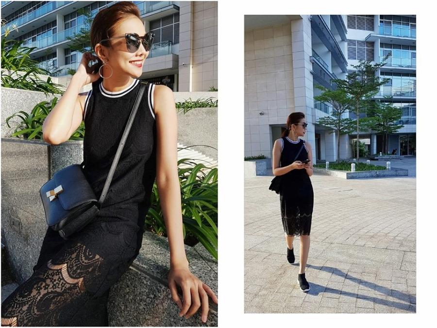 Thanh Hang, Gigi Hadid dien vay va sneaker nhu the nao? hinh anh 1