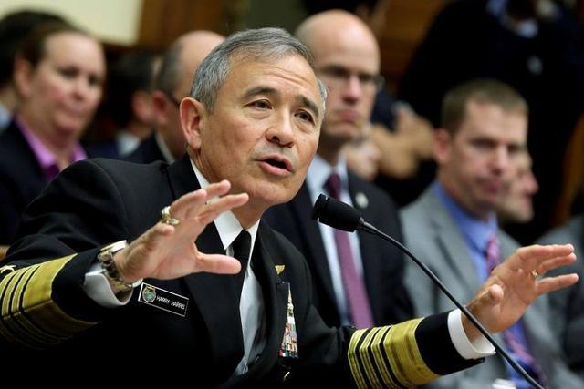 Tư lệnh Bộ chỉ huy Thái Bình Dương của Mỹ Harry Harris (Ảnh: Reuters)