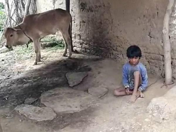 Cậu bé Ấn Độ bị gia đình buộc vào gốc cây trong 5 năm