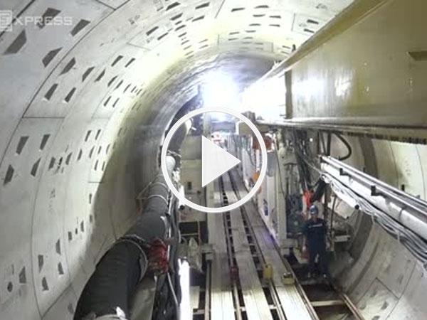 Video: Hầm ngầm metro Sài Gòn dần thành hình sau 90 ngày thi công