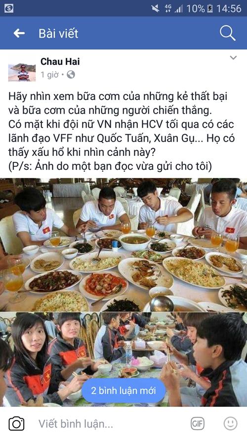 Đội tuyển nữ Việt Nam không bị bạc đãi - ảnh 1