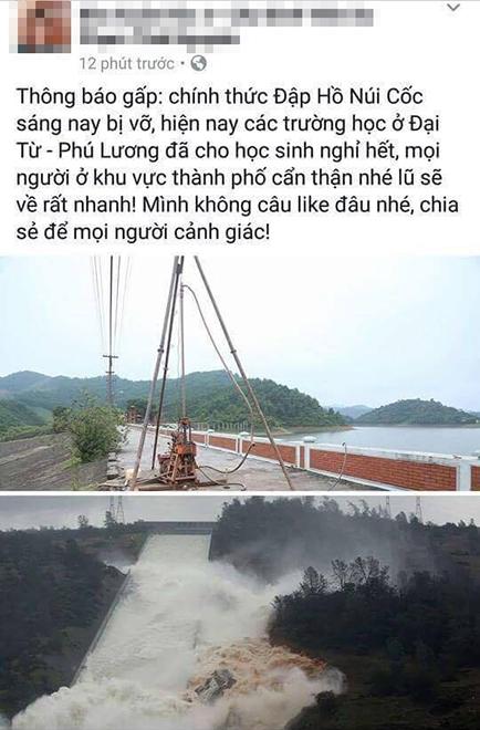 thuc hu thong tin vo dap ho nui coc, dan chay tan loan hinh anh 1