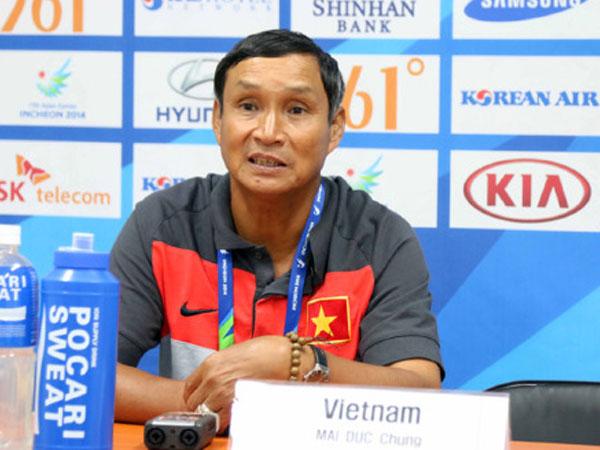 HLV Mai Đức Chung dẫn dắt tuyển Việt Nam