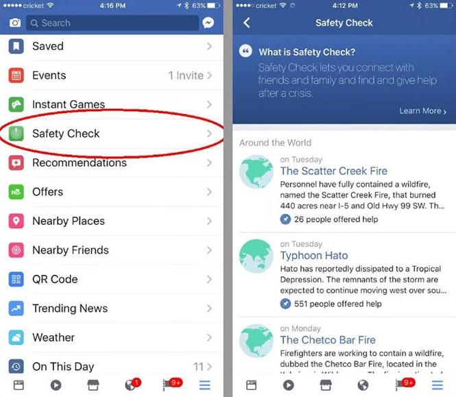 Cách tìm và kích hoạt Safety Check bằng tay trên Facebook - ảnh 1