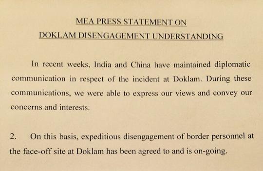 Ấn Độ, Trung Quốc chấm dứt căng thẳng biên giới - Ảnh 1.