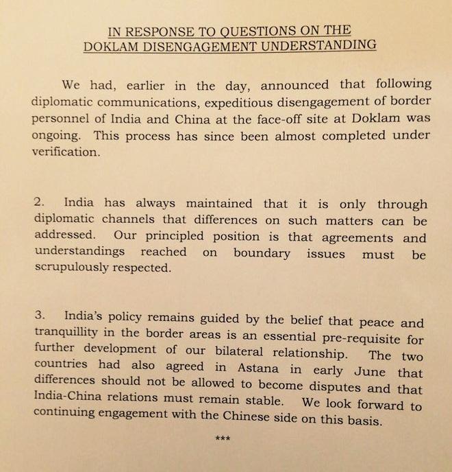 Ấn Độ: Thực tế 2 bên đều rút quân, New Delhi chấp nhận gỡ gạc sĩ diện giúp Bắc Kinh - Ảnh 1.