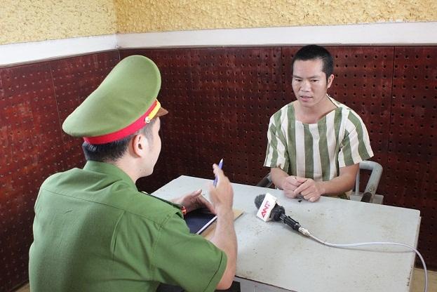 Đối tượng Lâm tại cơ quan điều tra (ảnh: CQCA)
