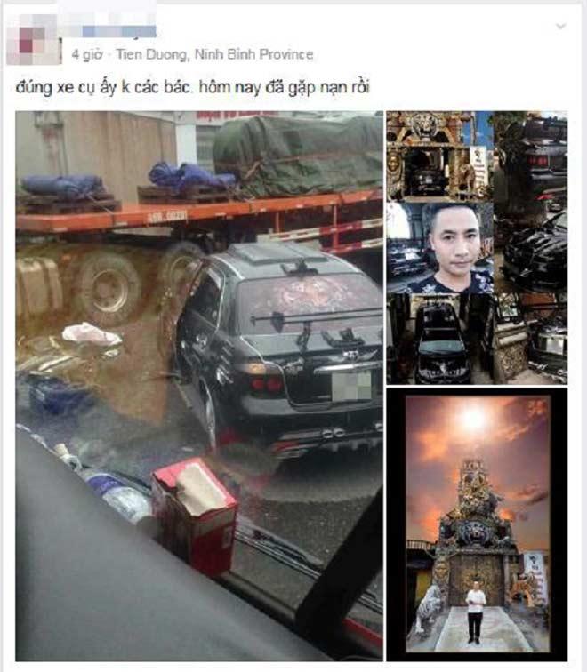 """Chủ ngôi nhà phong thủy """"kỳ quái"""" nổi tiếng ở Hưng Yên gặp tai nạn - 1"""