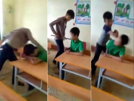 Clip nam sinh bị đấm, đá túi bụi ngay trong lớp học gây phẫn nộ - 1
