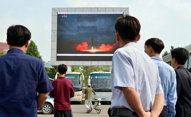 Mỹ biết trước vụ phóng tên lửa Triều Tiên qua Nhật Bản vài giờ. (Ảnh: Reuters)