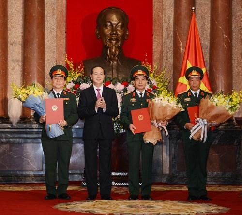 Chủ tịch nước trao quyết định thăng quân hàm 2 Thượng tướng - Ảnh 1.