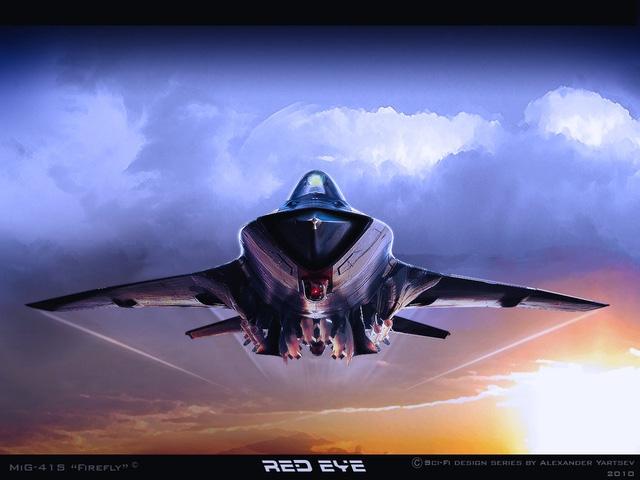 Ảnh đồ họa máy bay chiến đấu thế hệ 6 MiG-41 của Nga (Ảnh: DFI)