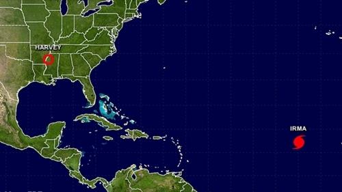 Hiện vẫn còn quá sớm để dự đoán đường đi của bão Irma. Đồ họa: NOAA