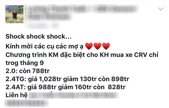 Honda CR-V tại Việt Nam giảm giá còn 771 triệu đồng - 2