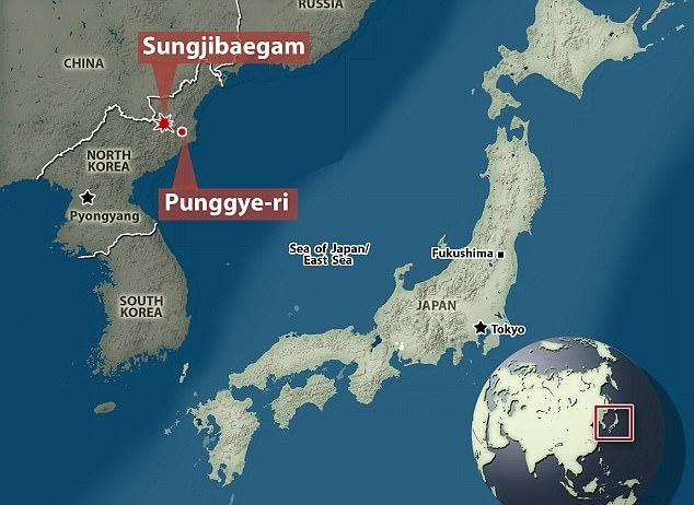Rung chấn mạnh xuất hiện sau khi Triều Tiên thử hạt nhân lần 6. (Ảnh: Dailymail)