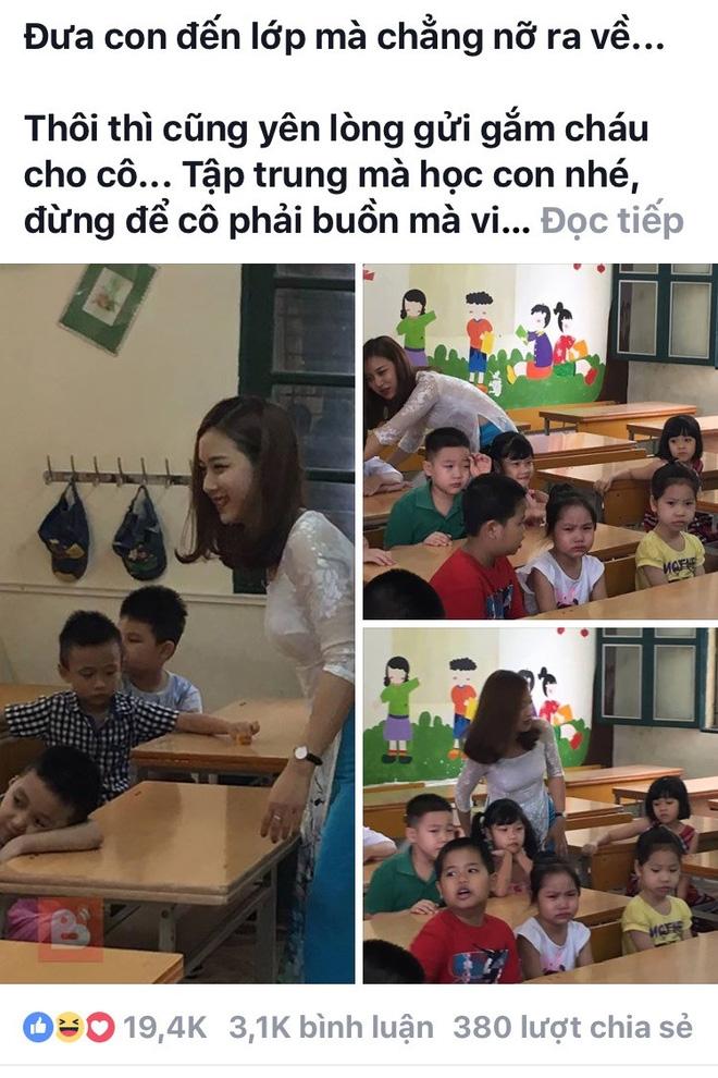 Cô giáo trẻ và bức hình hot nhất trong ngày khai giảng ở Hà Nội  - Ảnh 3.
