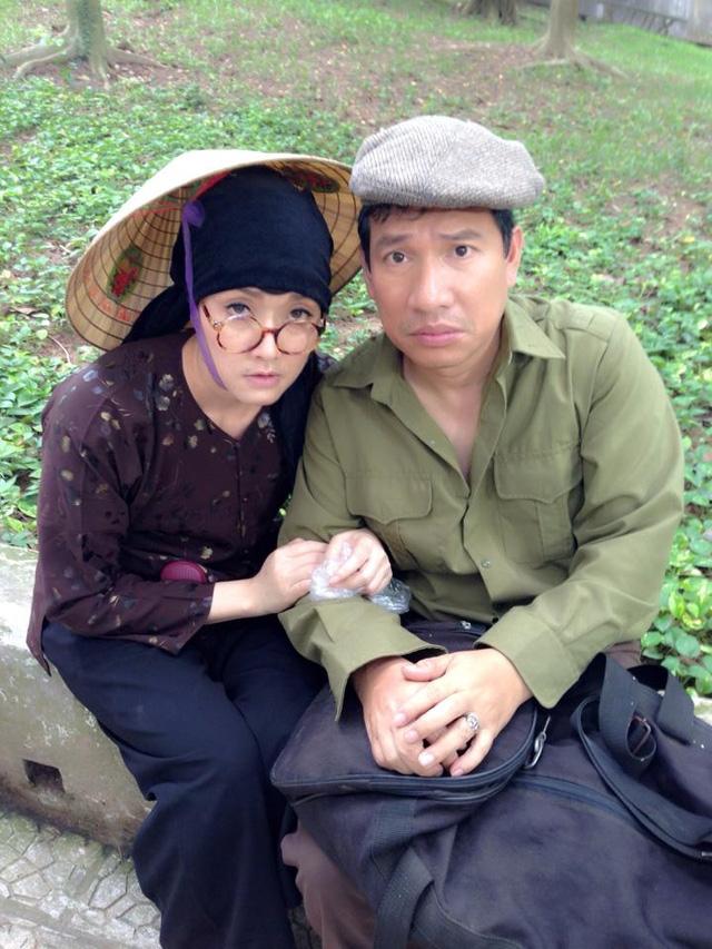 Vân Dung và Quang Thắng trong một tiểu phẩm hài.