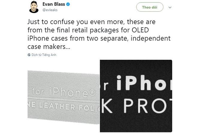 Hình ảnh đăng tải từ Evan Blass liên quến hộp đựng iPhone đặc biệt sắp tới  /// Ảnh chụp màn hình