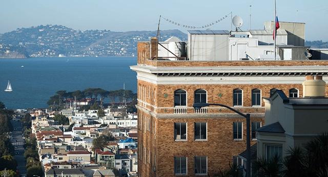 Tổng lãnh sự quán Nga tại San Francisco, Mỹ (Ảnh: AFP)
