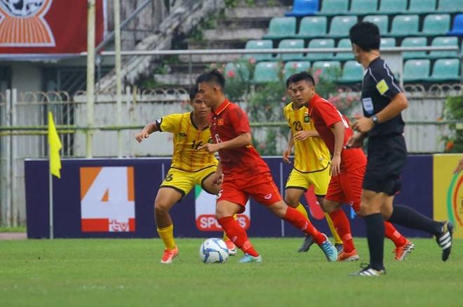 Viet Nam khoi dau giai U18 Dong Nam A bang tran thang 8-1 hinh anh 1