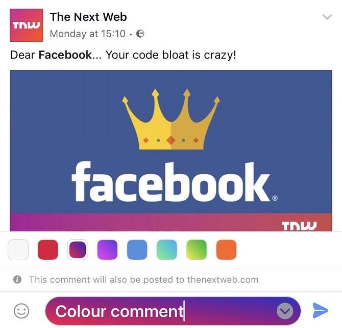 Người dùng sắp được lựa chọn màu sắc cho bình luận Facebook - 1