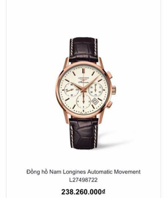 Chiếc đồng hồ bị lấy trộm được cho là có giá hơn 238 triệu đồng