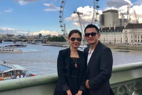 Thanh Thảo và bạn trai trong chuyến đi du lịch ở Anh thời gian qua.