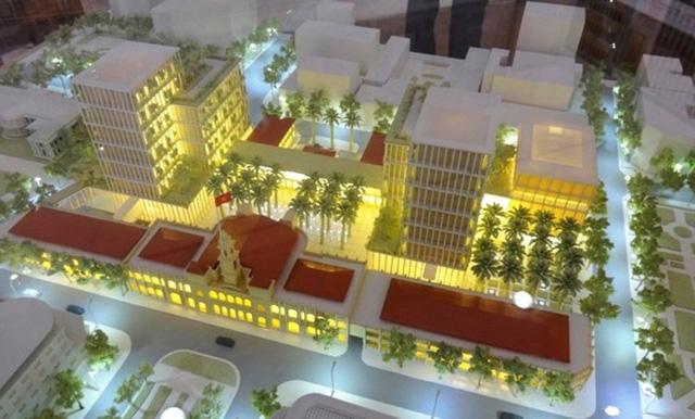 Mô hình đồ án thiết kế xây dựng trung tâm hành chính TPHCM do một công ty Nhật Bản thiết kế được lãnh đạo TPHCM chọn năm 2015