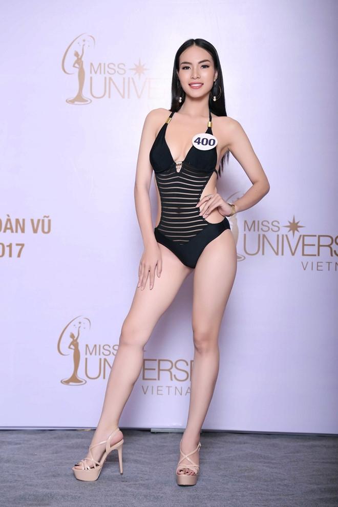 Thi sinh Hoa hau Hoan vu lo dui to, chan ngan khi dien bikini hinh anh 8