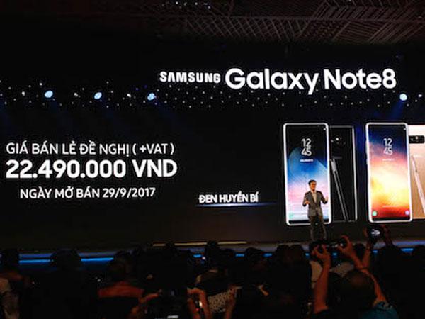 Galaxy Note 8 về Việt Nam giá 22,5 triệu đồng