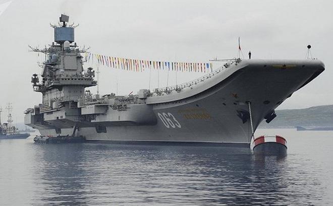Nga tiết lộ thời gian đại tu tàu sân bay Đô đốc Kuznetsov