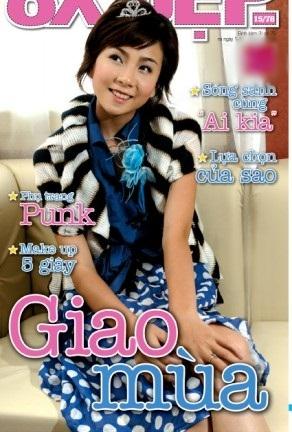 Cô liên tục xuất hiện trên bìa báo tuổi teen với hình ảnh dễ thương, được nhiều bạn trẻ thời đó mến mộ.