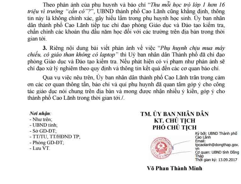 """thong tin hoc sinh lop 1 dong hon 16 trieu dong: """"khong chinh xac"""" hinh anh 2"""
