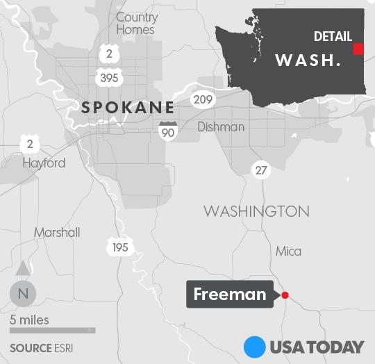 Bản đồ khu vực xảy ra vụ nổ súng (Ảnh: USA Today)