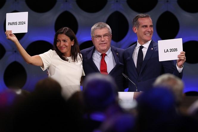 Paris và Los Angeles lần lượt được trao quyền đăng cai Olympic 2024 và 2028 /// AFP