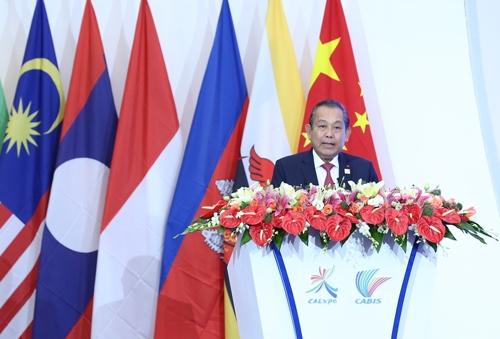 Phó Thủ tướng Trương Hòa Bình phát biểu tại lễ khai mạc CABIS lần thứ 14 (ảnh: VGP)