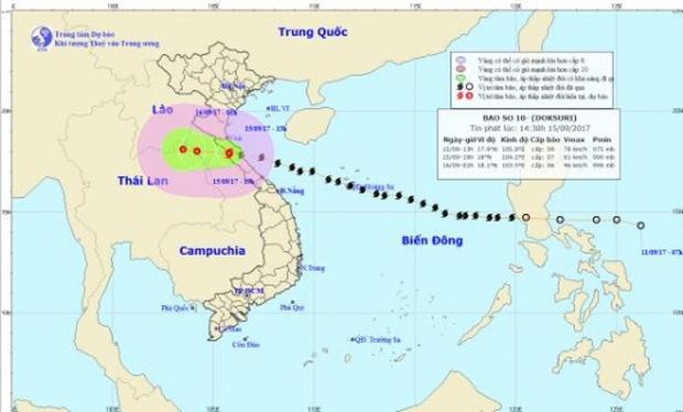 Bão số 10 tiến sâu vào Lào, suy yếu thành áp thấp nhiệt đới - Ảnh 1.