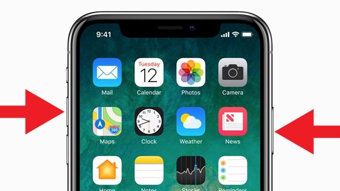 Người dùng có thể kết hợp phím nguồn và tăng âm lượng trên iPhone X để chụp ảnh màn hình