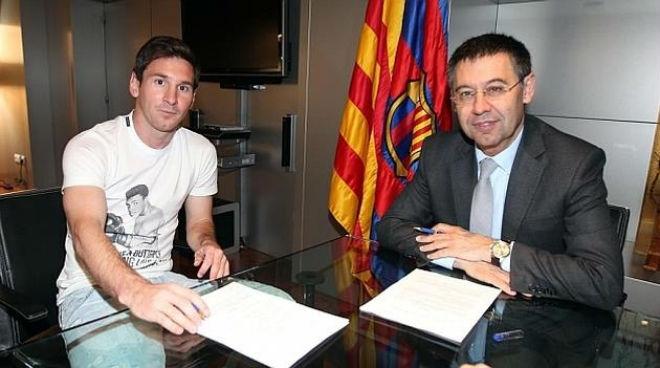 Messi ký hợp đồng mới với Barca: Bài học xương máu từ Neymar - 2