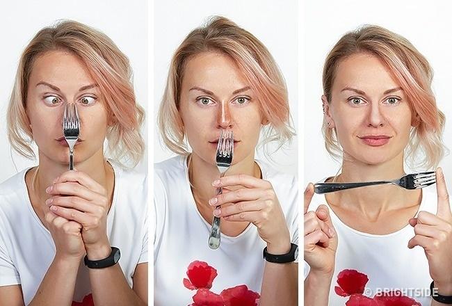 Tạo khối mũi bằng chiếc dĩa không k