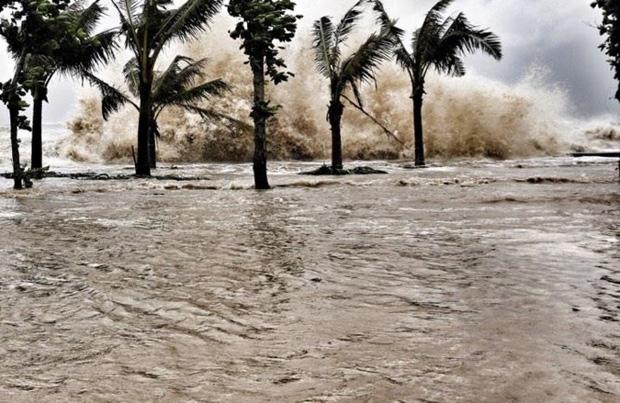 [ẢNH] Bão số 10 vào bờ: Bãi biển Sầm Sơn tan hoang trong sóng dữ - Ảnh 10.