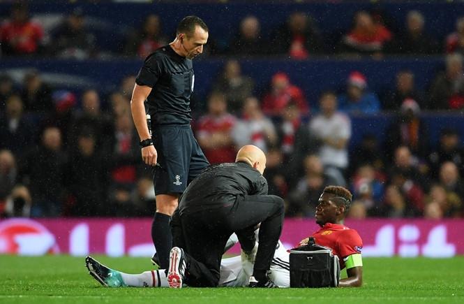Pogba sẽ vắng mặt trong vài trận đấu của M.U /// AFP