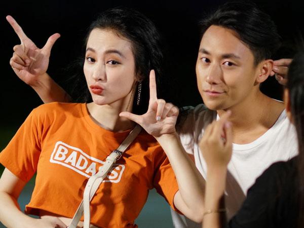 Rocker Nguyễn tình tứ với Angela Phương Trinh trên phim trường