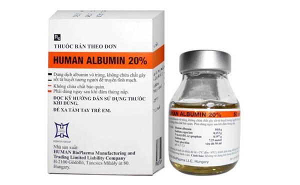 bệnh bò điên, Human Albumin, sinh phẩm y tế