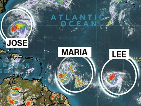 Bão Maria nâng cấp, di chuyển giống siêu bão Irma
