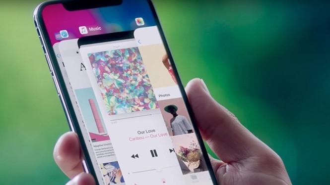 Thao tác chuyển đổi ứng dụng trên iPhone X phải được thay đổi do không có nút Home