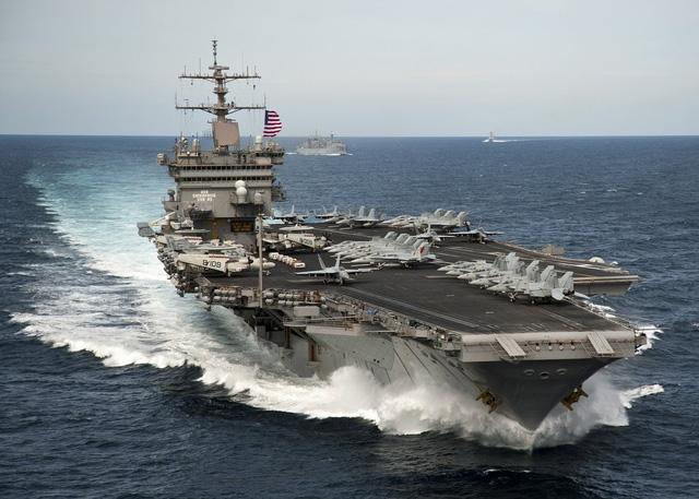 Tàu sân bay USS Enterprise của Mỹ (Ảnh: BI)
