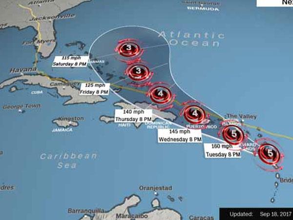 """Bão Maria thành """"quái vật"""", phá tan nhà Thủ tướng Dominica"""